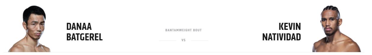 UFC 261: Batgerel vs. Natividad
