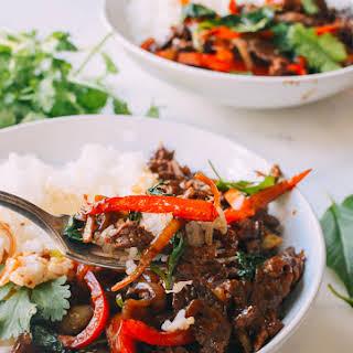 Thai Basil Beef (Pad Gra Prow).