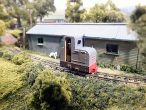 Photo: 013 This is also a Jung inspired by one that is in the Valkenburg museum, and also built in 1929. This Rusby's Resin loco, built onto a tiny Tu-DekI chassis is based on a Jung MSZ130 which is a 2 cylinder machine ,