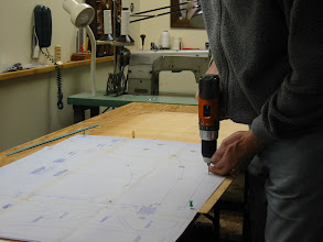 "Photo: Transfer frame plans to a 1/8"" ply pattern board."