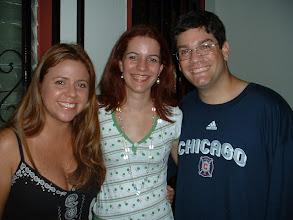 Photo: Ale, Claudia y Efra en el cumpleaños de Claudia