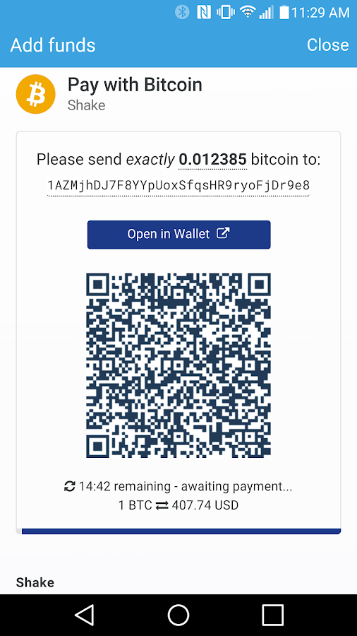 Shakepay- screenshot
