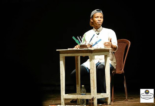 Xabiso Vili performs his one-man show 'Black Boi Be' to audiences across the world.