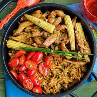 Easy One Pot Chicken & Rice Dinner.