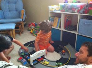 Photo: Boys Play Cars