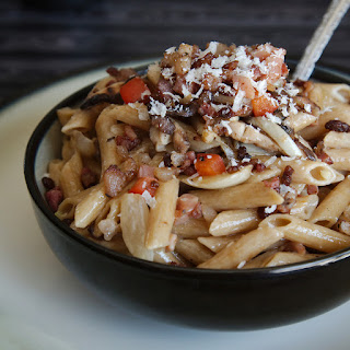 Whole Wheat Penne with Caramelized Onion, Fennel, and Pancetta