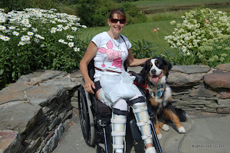 Photo: My adoring service dog, Patience and me.  Maine , USA.