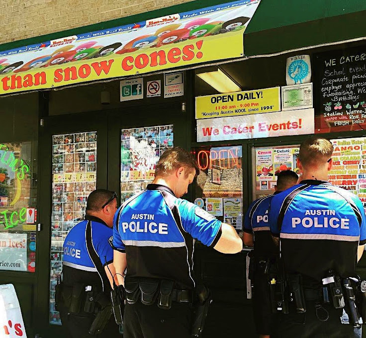 When in doubt, eat where the local cops eat.
