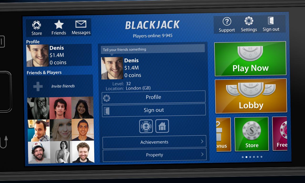 Blackjack sites online