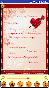 Anniversary Invitation Cards - náhled