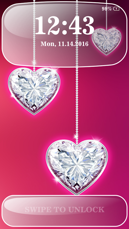 Diamond Hearts Lock Screen - Android Apps on Google Play
