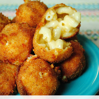 Fried Mac and Cheese Bites.
