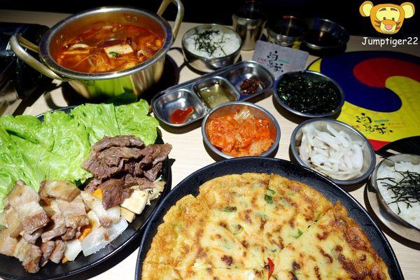 大口吃肉,油亮亮厚切五花肉/帶骨牛小排-油蔥酥韓國烤肉村