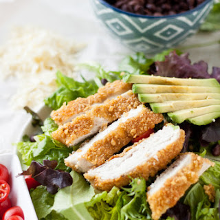 Tortilla-Crusted Chicken Salad with Cilantro Dressing
