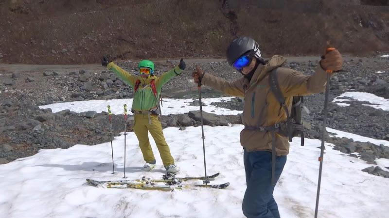 【八方尾根スキー場】バックカントリーお疲れさま