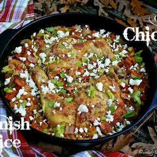 One Pan Chicken and Spanish Rice Bake.