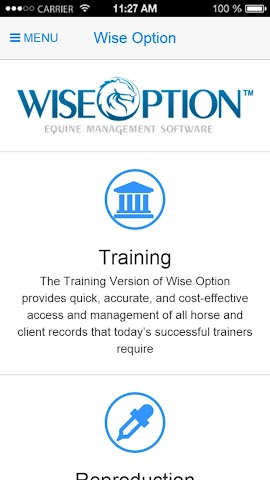 android Wise Option Equine Screenshot 0
