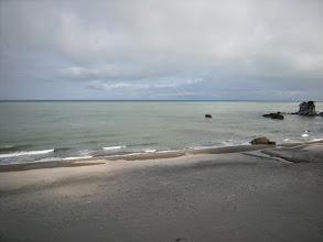 Photo: 新潟。海辺の温泉宿に連れて行ってもらう、の巻。 目の前は日本海~。