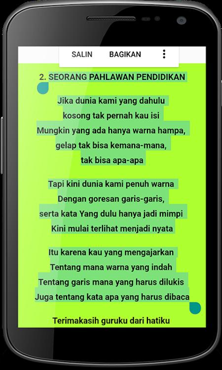 puisi tentang guru terbaik android aplicaciones appagg
