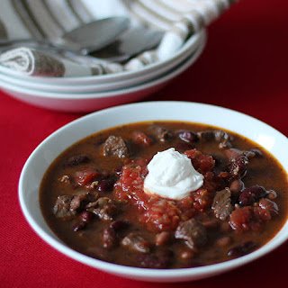 Chunky Beef and Syrah Chili.