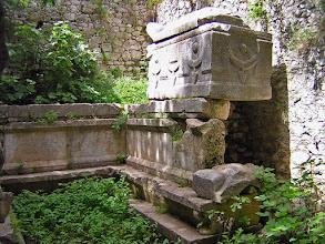 Photo: Mausoleum, known as Lyciarch Grave from 3rd century AD. Here the Hoplon Sarcophagus ********** Mausoleum, beter bekend als het Lyciarchis Graf uit de 3de eeuw n.C. Hier de Hoplon Sarcofaag.