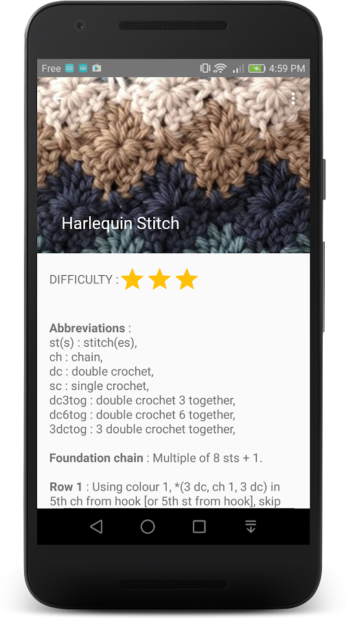 Crochet Stitches- screenshot