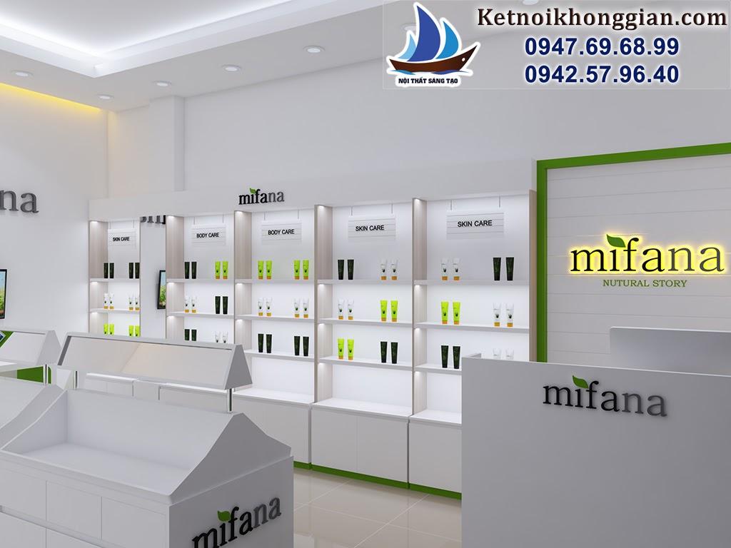 thiết kế shop mỹ phẩm mifana
