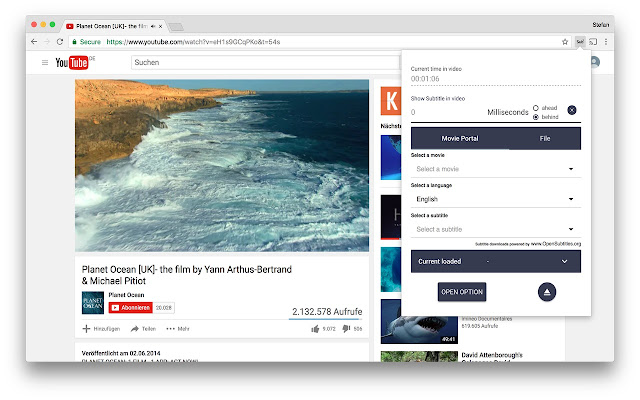 Sub chrome web store load subtitle to a html5 video ccuart Choice Image
