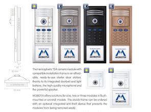 Photo: Mobotix T24 IP video intercom door station, combinations and colours