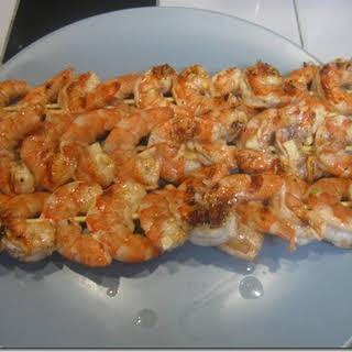 Garlic Shrimp Skewer.