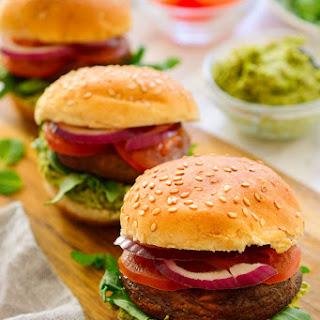 Vegetarian Sliders with Mushrooms and Mint-Pea Pesto Recipe