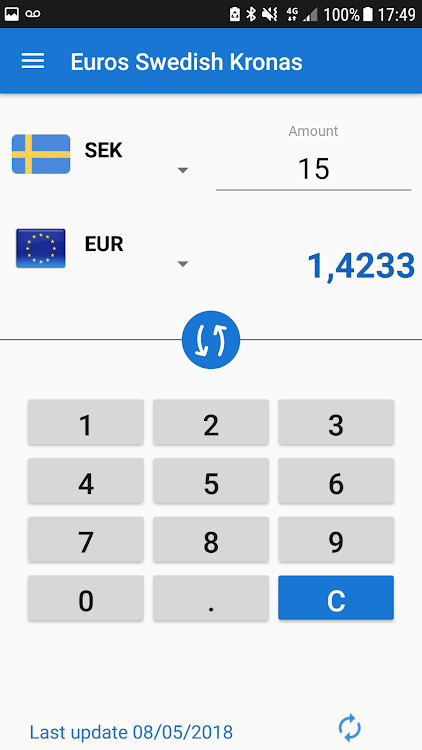 1 euro to kr