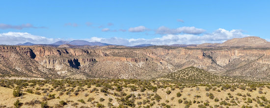 Photo: View to the West, towards the Jemez Mountains;Tent Rocks National Monument, Cochiti Pueblo, New Mexico (by Keith H.)