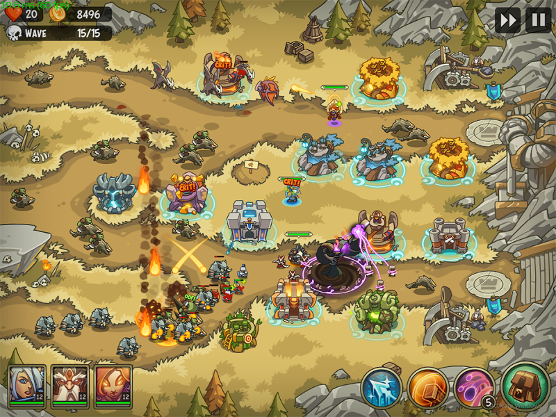 Empire Warriors Premium: Tactical TD Game Screenshot 6