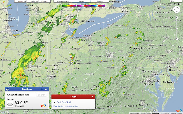 Full screen weather chrome web store the worlds most interactive and user friendly weather map from weather underground has gone full screen gumiabroncs Image collections