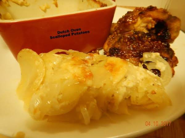 Dutch Oven Scalloped Potatoes
