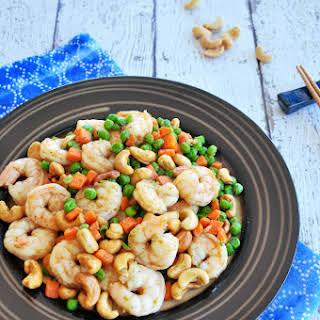 Stir-fried Shrimp With Cashew Nuts.