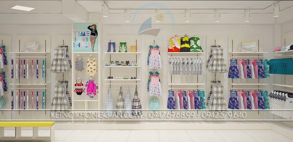 thiết kế shop thời trang mẹ và bé cuốn hút