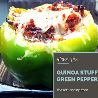 Gluten-free Quinoa Stuffed Green Peppers.