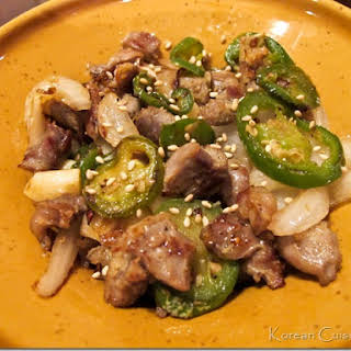 Chicken Gizzard Stir-fry - Dak Ddong Jjip - (닭똥집 볶음).