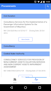 Mauritius Procurement Notices- screenshot thumbnail