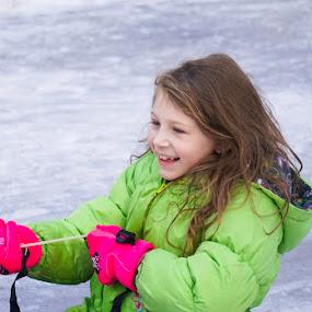 Snow Day by Ashley Ellis - Babies & Children Children Candids ( child, adventure, winter, sledding, joy, happy, snow, fun, sled )