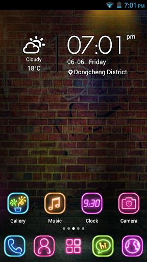 Colorful Glare-Launcher Theme