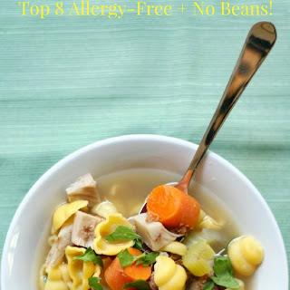 Vegan + Gluten-Free Chicken Noodle Soup (Allergy-Free, No Beans).