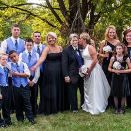 by Myra Brizendine Wilson - Wedding Groups ( bride, couple, groom, bride and groom, wedding, family,  )
