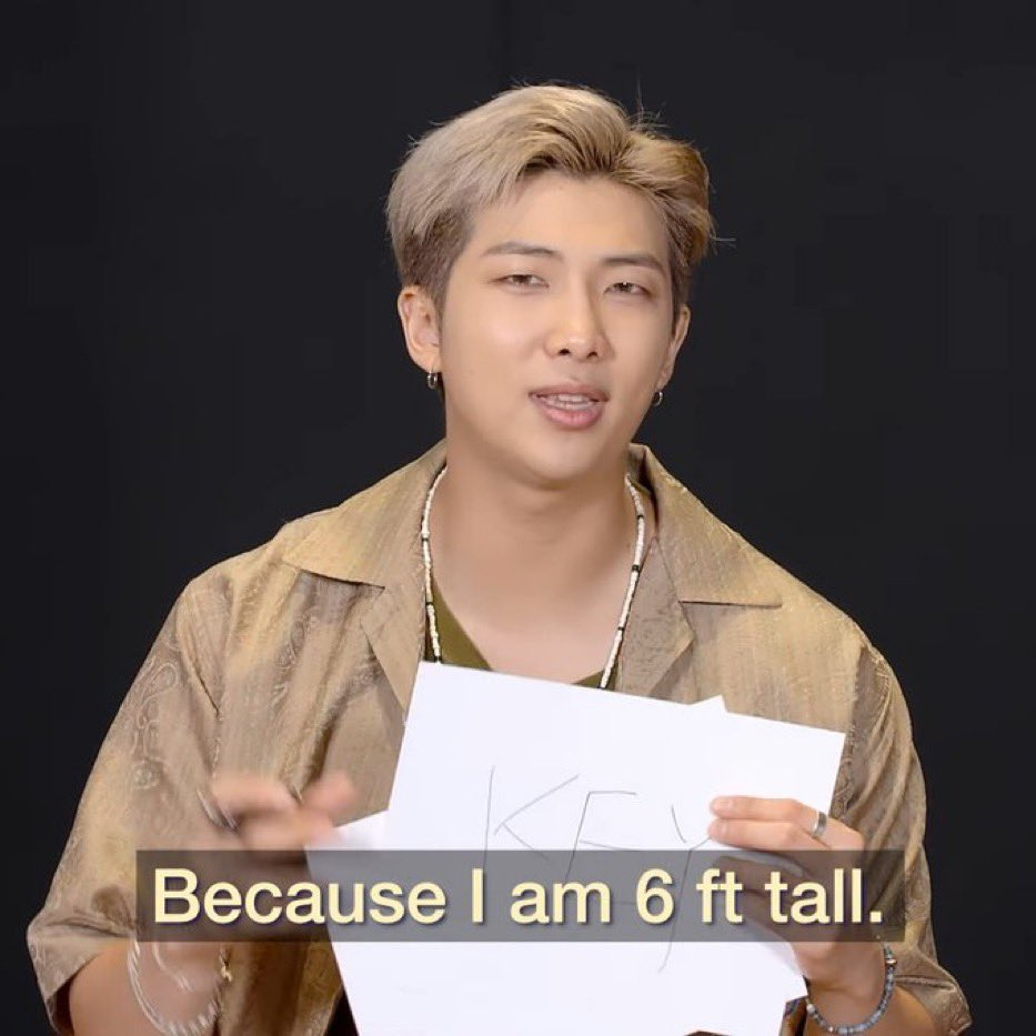 joon being 6 feet tall