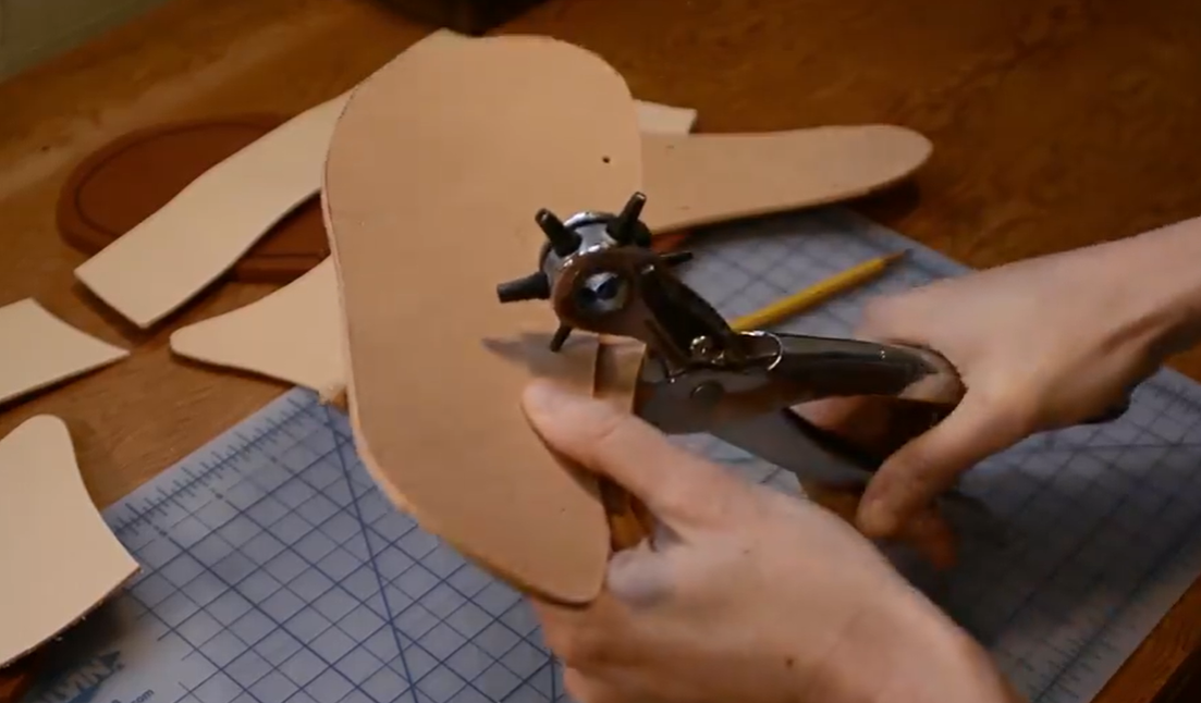 hole punch leather