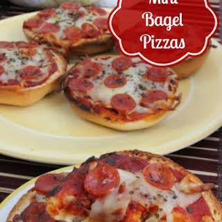 Mini Bagel Pizzas.