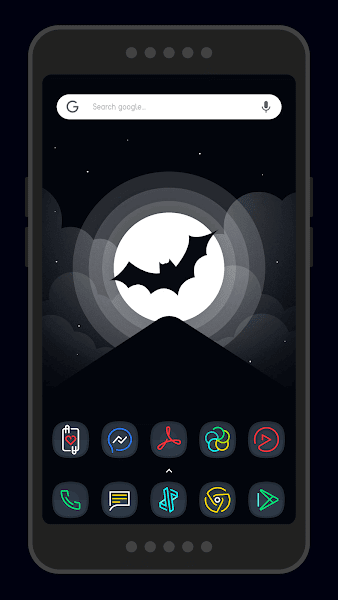Nightmare Squircle – Dark S8 Icon Pack v2.0.8.i.a