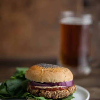 Brown Rice, Oat, and Nut Veggie Burger.